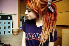 Fiery dreads! gorgeous #dreadlocks #Orange