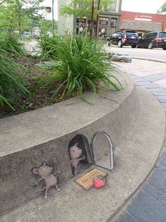 Quirky Chalk and Charcoal Characters on the Streets of Ann Arbor- Michigan - Imgur