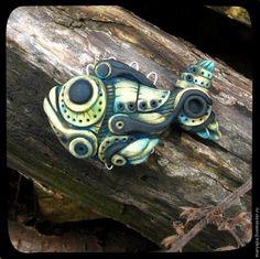 """Создаем """"Бионическую рыбу"""" — необычное украшение из полимерной глины - Ярмарка Мастеров - ручная работа, handmade"""