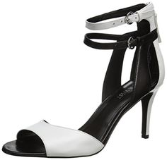 Nine West Women's Itsie Dress Sandal,White/Black Leather,6 M US Nine West http://www.amazon.com/dp/B00LHVP3BW/ref=cm_sw_r_pi_dp_S0myub18NW4A8