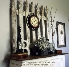 26 Breathtaking DIY Vintage Decor Ideas - Old vintage farmhouse fence turned into amazing decor