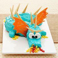 A Medieval Dragon Birthday Party Cake