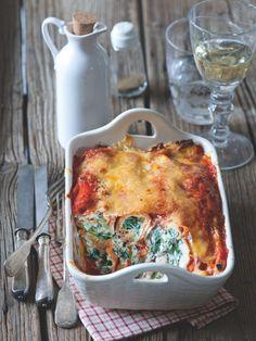 Ač se to nezdá, bonusem tohohle Itálií inspirovaného receptu je, že je bezlepkový. Ricotta, Pesto, Quiche, Macaroni And Cheese, Breakfast, Board, Ethnic Recipes, Morning Coffee, Mac And Cheese
