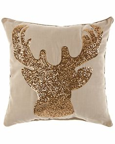 "Thro ""Deer"" Decorative Pillow - Christmas"