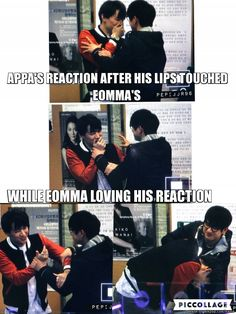 Appa & Eomma cute moment...