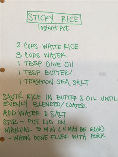 Sticky rice - perfect! Easy! Instant pot recipe. Can try 4 minutes and may be better.   If using for balls, Wet hands make it much easier to handle :)
