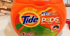 Make A Jack-O'-Lantern From Old Tide Pod Containers via LittleThings.com