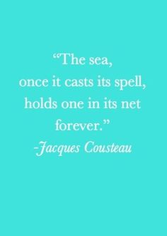 "The ocean's pull. turquoi5e: "" This is true """
