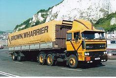 Col Photo Brown Wharrier Daf 3300 Artic Tilt Trailer - C138 Waj