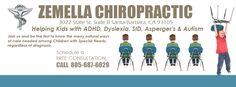 Zemella Chiropractic  Santa Barbara Chiropractor 3022 State St. Suite B Santa Barbara, CA 93105 Phone: 805-687-6629 Fax: 805-687-0675 Chiropractic Adjustment, Chiropractic Wellness, Santa Barbara, Aspergers Autism, Adhd Kids, Sciatica, Dyslexia, Neck Pain, Special Needs