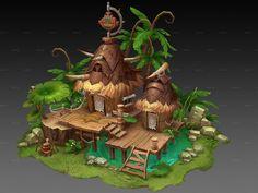 001kFJBxzy79GhJwr0B41 (1500×1125) Level Design, Bg Design, Game Design, Game Environment, Environment Concept Art, Environment Design, Cartoon Building, Building Art, Landscape Concept