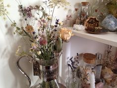 """floralwaterwitch: """" With the exception of the rose and a few springs of lavender, these are most of the wildflowers I collected throughout this summer ✨ """""""