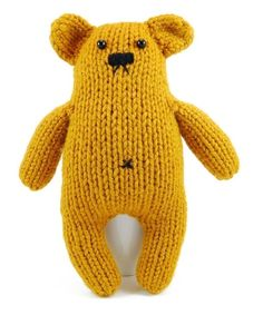 knit bear so cute,