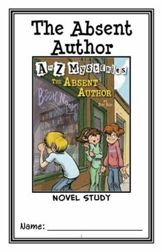 The Absent Author : A to Z Mysteries (Ron Roy) Novel Study / Comprehension from McMarie on TeachersNotebook.com -  (26 pages)  - A fun, engaging, 26-page booklet-style Novel Study complete with a challenging, book-based Word Jumble and Word Search!  Based on 'A to Z Mysteries: The Absent Author' by Ron Roy.