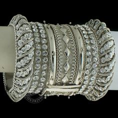 The Silver Bangles by Indiatrend. Shop Now at WWW.INDIATRENDSHOP.COM