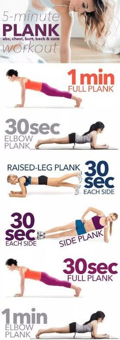 5 Minute Plank Workout workout exercise exercise ideas exercise tutorials workout tutorials fitness tips Fitness Hacks, Fitness Workouts, Circuit Fitness, Sport Fitness, At Home Workouts, Quick Workouts, Belly Workouts, Yoga Fitness, Thigh Workouts