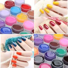 100%Brand New 36 Pot Pure Color Decor soak off  UV Gel Nail Art Tips Lamp Shiny Cover Extension Manicure