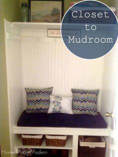 Home Made Modern: Mudroom Closet Updates