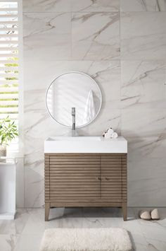 "36"" Linear Single Sink Bathroom Vanity, Whitewashed Walnut – VANITIES EXPO"