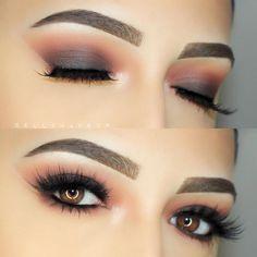 charcoal grey smokey eye, warm crease, cat eye, no liner - Bella Torres (@bellamakeup_) #makeup