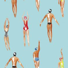 Swimmers | Removable Wallpaper | WallsNeedLove