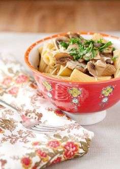 Chicken Marsala Pasta, one of my faves.