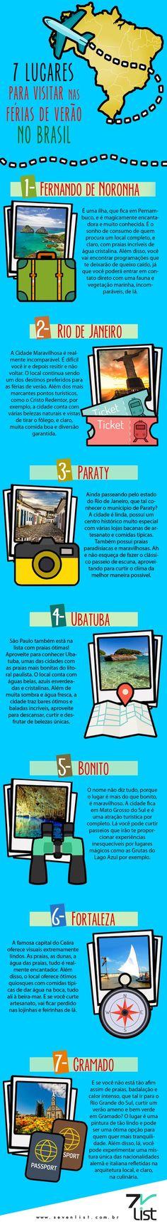 7 lugares para viajar no Brasil: