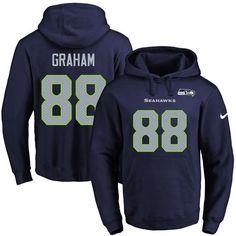 Nike Seahawks #88 Jimmy Graham Navy Blue Name & Number Pullover NFL Hoodie