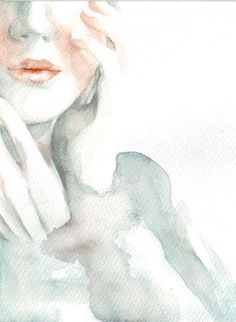 Original watercolor painting woman illustration girl by HelgaMcL, $22.00
