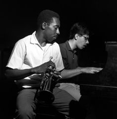 Blue Mitchell and Chick Corea during Mitchell's The Thing To Do session, Englewood Cliffs NJ, July 30 1964 Photo Francis Wolff Jazz Artists, Jazz Musicians, Music Artists, All About Jazz, All That Jazz, Jazz Blues, Blues Music, Blue Note Jazz, Francis Wolff