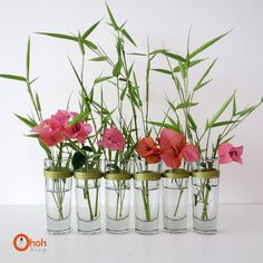 Ohoh Blog: DIY vase using thread and shot glasses