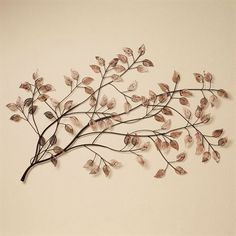 Branches at Sunrise Wall Sculpture Copper  --- for a family tree! Write names, dates, etc. i to the soft copper!