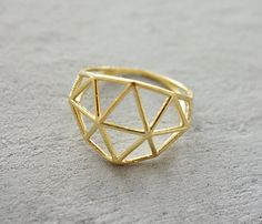 Structure Ring, Geometric ring, signature ring, Architectural jewelry, statement ring