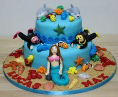 Temptations: Underwater theme cake