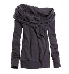 Large neck hoodie