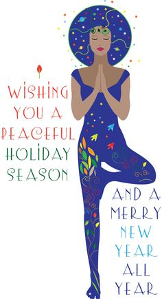 Christmas Tree Yoga Card by WalkingSatellite on Etsy