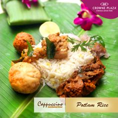 Have you tried the #PotlamRice at our #MidNightHangout created by Chef Harish? Grab it tonight only at #Cappuccino.