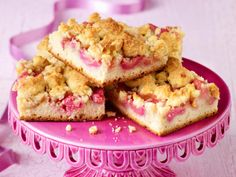 Rhabarberkuchen - fruchtig  frisch! - streusel-rhabarber-kuchen  Rezept