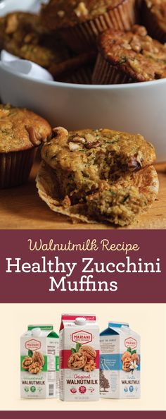 Plumped and puréed dried fruit keeps the fat and added sugar low in this classic zucchini muffin. Great for breakfast or as an after-school snack. Get the full recipe on our website! Zucchini Muffins, Healthy Muffins, Healthy Treats, Healthy Tips, Breakfast Recipes, Snack Recipes, Cooking Recipes, Low Carb Recipes, Snacks