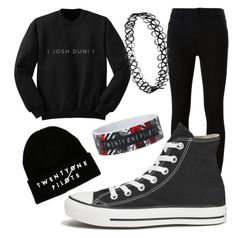 """Cold Day^_^"" by hello-poop-123 ❤ liked on Polyvore featuring J Brand, Converse, CO, women's clothing, women, female, woman, misses and juniors"