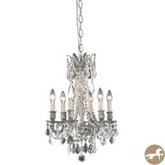 Christopher Knight Home Lucerne 6-light Royal Cut Crystal/ Pewter Chandelier - Overstock™ Shopping - Great Deals on Christopher Knight Home Chandeliers & Pendants