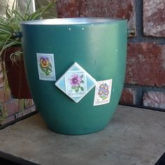 Recycled up cycled Vintage Ice Bucket by GlassGardenGorgeous, $12.00