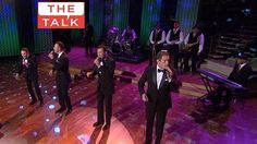 """The band Human Nature perform a medley of """"Just My Imagination"""" and """"Reach Out, I'll Be There!"""" guests on The Talk show 7-10-13"""
