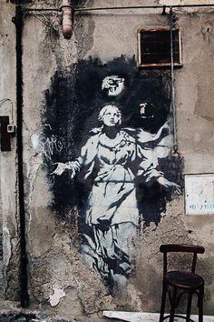 Banksy, Napoli, Italy - Street Art