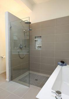 Mid Century Modern Master Bathroom shower tile - contemporary - bathroom - seattle - ID by Gwen Contemporary Bathroom, House Bathroom, Home, Glass Shower Doors, Modern Master Bathroom, Bathroom Shower Tile, Shower Room, Bathrooms Remodel, Bathroom Design