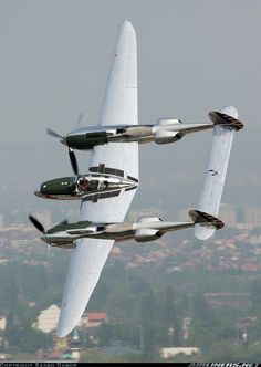 Red Bull (The Flying Bulls) Lockheed P-38L Lightning 	 Off-Airport - Budapest Hungary, May 1, 2013