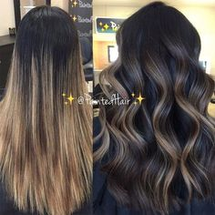 Balayage: Chestnut + Chocolate We are the largest community in the world for salon professionals wit Bayalage, Brown Hair Balayage, Brown Blonde Hair, Balayage Brunette, Hair Color Balayage, Hair Color For Black Hair, Hair Highlights, Ombre Hair, Dark Hair