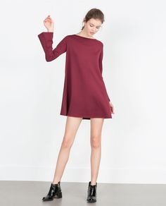 DRESS WITH BELL SLEEVES-View all-Dresses-WOMAN | ZARA United States