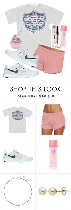 """""""I'm soooo in the mood for some frozen strawberry yogurt!!!🍦"""" by maris3456 ❤ liked on Polyvore featuring NIKE, Dogeared and Lord & Taylor"""