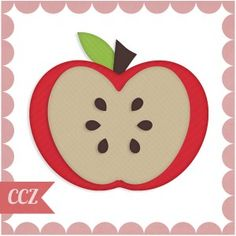 Half An Apple Vector Shape